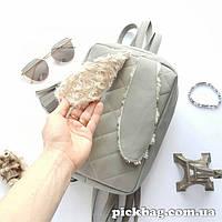 Женский рюкзак с ушками кролика Зай серый