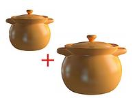 Набор керамических кастрюль (3.3 л + 1.6 л) Sacher 0068-А-SHKP