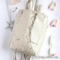 Женский рюкзак с ушками кролика Зай перламутр