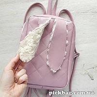 Женский рюкзак с ушками кролика Зай розовый