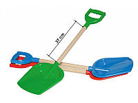 Детская лопата Технок с деревянной ручкой в асс. (2902)