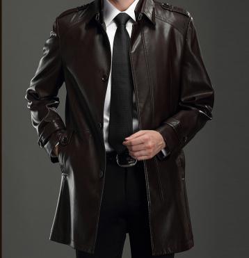 Мужская кожаная куртка. Модель 2026