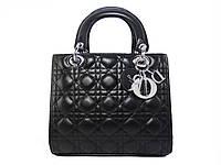 Женская сумка в стиле Christian Dior (черная) №6101