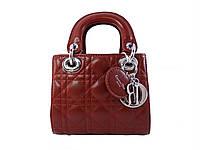 Женская сумка в стиле Christian Dior (бордовая) №6100