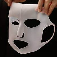 Силіконова маска, догляд за обличчям / Многоразовая силиконовая маска для усиления эффекта уходовых средств