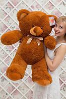 Большой плюшевый медведь Барни цвет коричневый 100 см