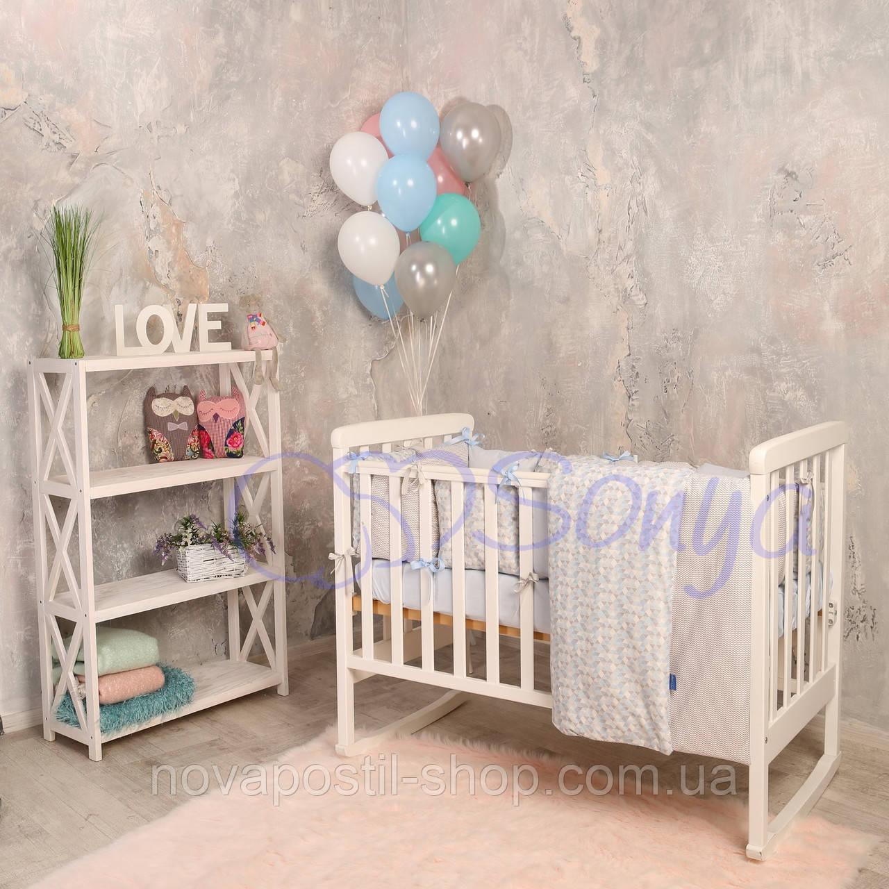 Набор в детскую кроватку  Baby Design Premium ice (6 предметов)
