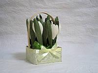 Цветы из конфет в корзине Арт. 75