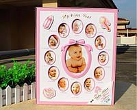 """Фотоальбом для девочки """"12 месяцев"""" - альбом для новорожденных"""