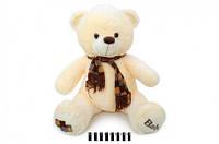Медвежонок с шарфом молочный . 60 см.