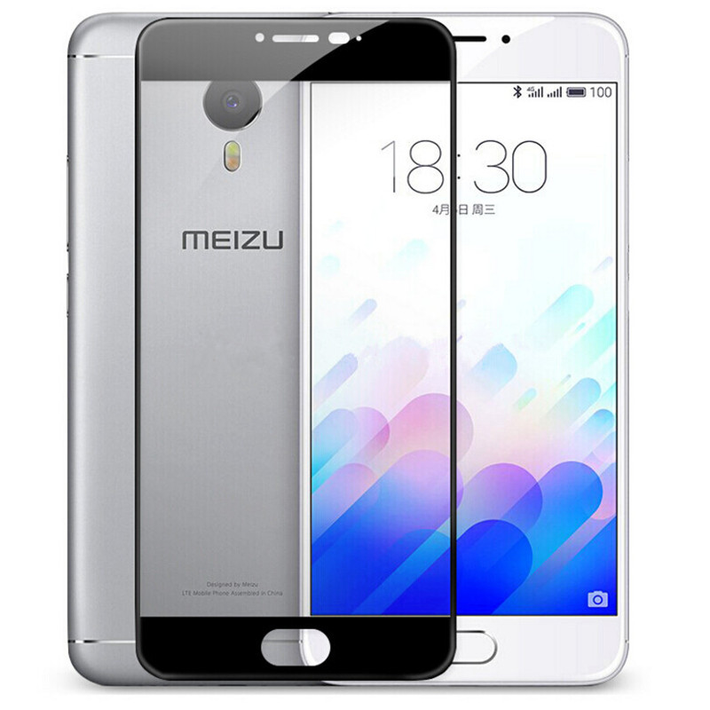 Защитное стекло Meizu M3 Note full cover black