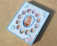 """Фотоальбом для мальчика """"Мои первые 12 месяцев"""" - альбом для новорожденных"""