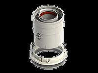 Коаксиальный вертикальный адаптер для турбированых котлов 60/100