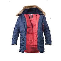 Куртка парка Chameleon Зимова Slim Fit Аляска N-3B Navy.