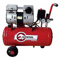Компрессор Intertool PT-0022 (24л, 1.5HP, 1.1кВт, 145л/мин, безмаслянный)