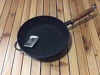 """Сковорода чугунная с деревянной ручкой 260х60мм """"Ситон"""", фото 1"""