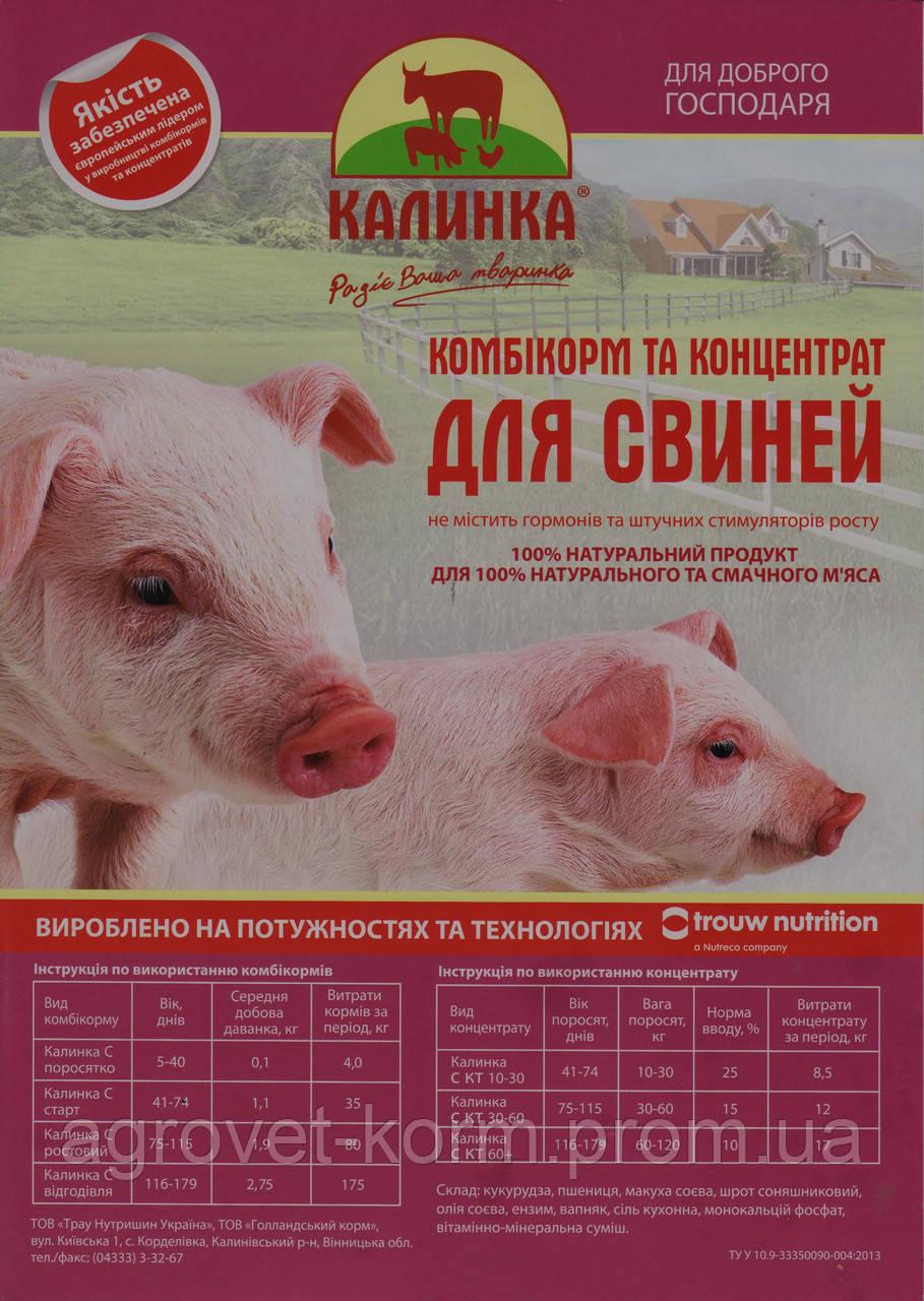 Hendrix-Калинка-КТ 30-110 (8126) БМВД 5%  для откорма от 30 до 110кг свиней 25 кг