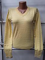 Кофта женская (реплика) Polo ralph lauren желтого цвета