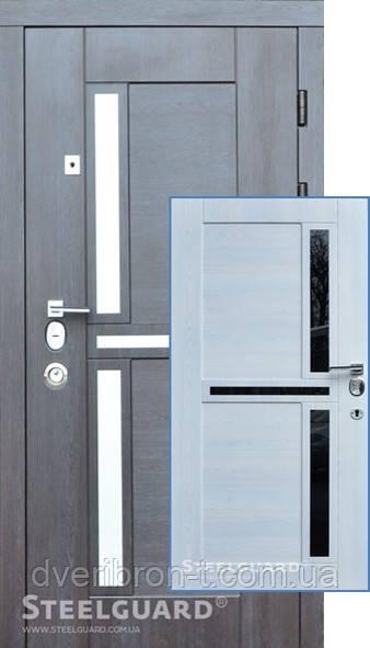 Входная дверь SteelGuard Neoline 195 венге прованс/сосна прованс, 880/960 х 2050 мм