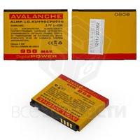 Батарея Avalanche для мобильного телефона LG ALMP-P-LG.KU990CP0950, (Li-ion 3.7V 900mAh)