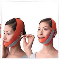 Маска-бандаж для коррекции овала лица (второй подбородок, щеки) бежевая, фото 1
