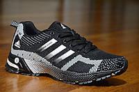 Кроссовки Adidas адидас мужские весна лето реплика черные с принтом легкие