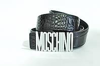 Ремень Moschino мужской унисекс кожа черный