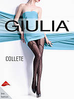 Колготы женские имитация чулков в горошек GIULIA COLLETE 40 (1)