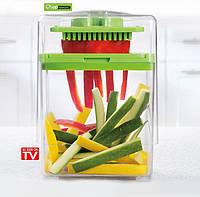 Ручная овощерезка Magic Chop - 2 режущие пластины +контейнер