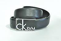 Ремень Calvin Klein женский,мужской унисекс кожа черный