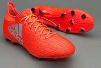 Футбольные бутсы adidas X 16.3 FG Solar Red/Silver Metallic/Hi-Res Red