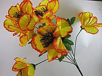 Букет мак цветной (45 см.)