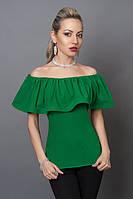 Блуза мод №494-1, размеры 40,42,44,46 зеленая