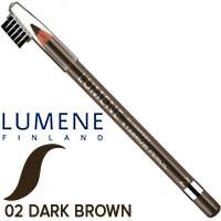 Lumene - Карандаш для бровей BlueBerry Eyebrow Pencil Тон 02 темный коричневый