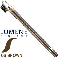Lumene - Карандаш для бровей BlueBerry Eyebrow Pencil Тон 03 коричневый