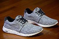 Кроссовки Nike Roshe Run найк мужские реплика серые джинс легкие весна лето 2017