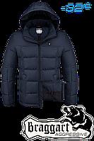 Куртка на меху мужская Braggart Aggressive - 3733P темно-синяя