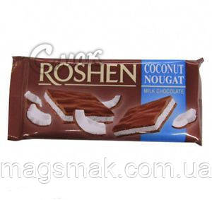 Шоколад Roshen Молочный с кокосовой нугой, 90 г , фото 2
