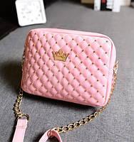 Женская сумочка через плечо Crown корона розовая
