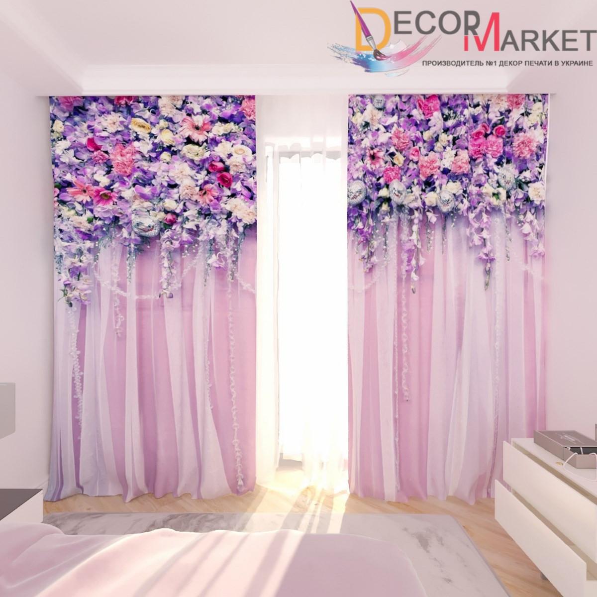 Фотошторы арка из цветов