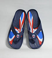 Шлепанцы детские оптом Даго 427 Англия синие, фото 1
