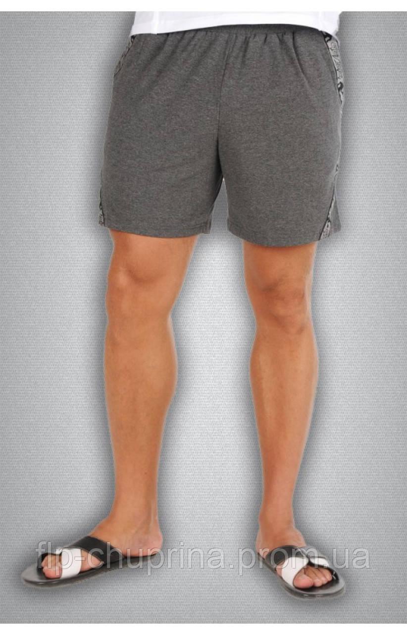 Мужские спортивные шорты серые, фото 1