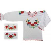 Блуза нарядная вышитая для девочек