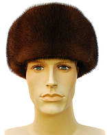 Мужская  шапка из натуральной норки цвет орех