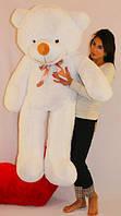 Большой белый плюшевый мишка 160 см