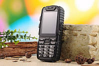 A6 Противоударный телефон с суппер усиленной батареей (АКБ 9800 мАч) черный, фото 1