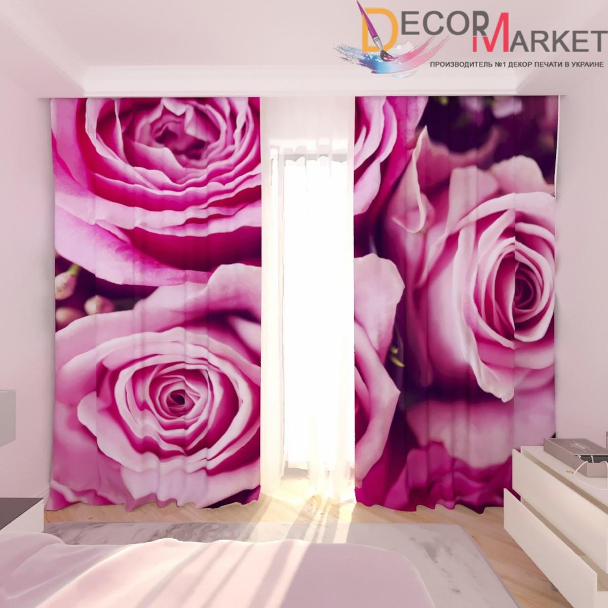 Фотошторы пурпурная роза