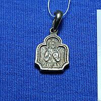 Серебряная иконка на шею Ангел Хранитель с молитвой Л-2