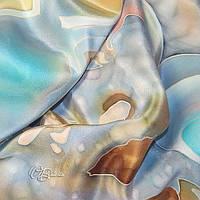 Платок «Агат» на натуральном шелке ручная роспись