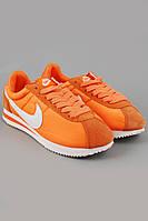 Кроссовки Nike Cortez оранжевые с белым